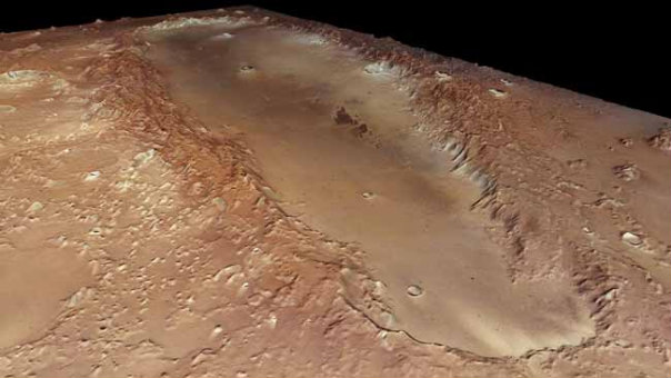 Mars - Orcus Patera crater